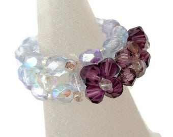 Swarovski Crystal Flower Ring