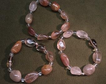 Quartz Jelly Bean Stacking Bracelet