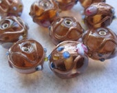 Czech Beads, Amber, Wedding Cake Beads, Vintage Beads, Diy Jewelry, Vintage Czech Beads, Wedding, Craft Supplies, 10mm Wedding Cake Beads