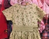 50s Kate Greenaway Dress 12/14 Girls