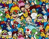 Super Mario Fabric: Springs Creative, One Yard.