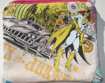 Batgirl Coin Pouch: Superhero, Girl Power.