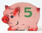 Vintage Pig Carnival Game - Pig Number 5
