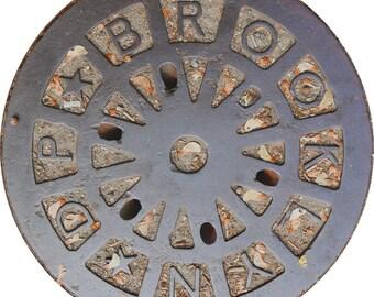 TRIVET - Brooklyn Sewer Cover - Original Photography