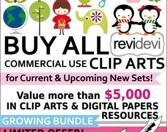 Lifetime Access to all commercial use cliparts, digital papers - BUY ALL Revidevi clip arts current and future - Value more than USD 5,000