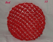 Vintage Ladies Snood, Hand Knitted from an Original 1940s Pattern, Colour Red,