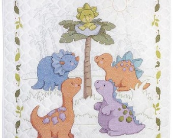 Cuteasaurus Baby Crib Cover/Quilt, new baby gift