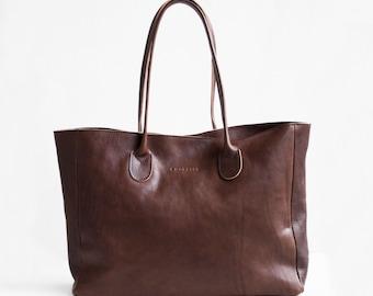 Leather Shopper in Chestnut Brown / Brown Leather Tote / Shoulder Bag / Brown Leather Bag /  Leather Bag  / Leather Handbag / Brown Bag
