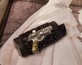 Bling Cigarette Lighter Cover-Vintage Gun