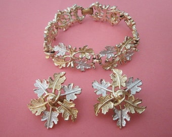 vintage Bracelet and Earrings Set Sarah Coventry