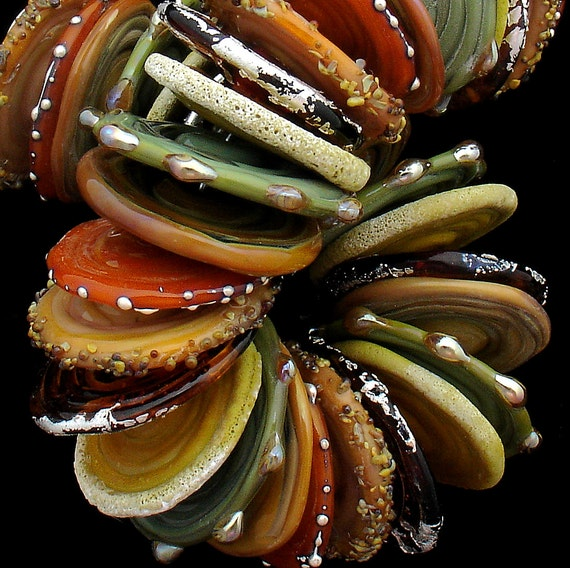 DSG-Debbie Sanders Glass Handmade OrGaNiC Lampwork Beads ~Autumn Woods~ Made To Order