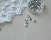 """12pcs+ 4mm/0.156"""" Tiny Silver buttons for SD Dolls clothes/ Scale Dolls clothes / mini buttons for doll clothes"""