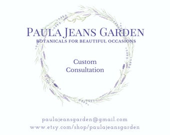 Custom Consultation for your Wedding Flowers