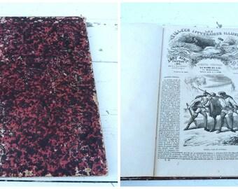 Vintage Antique 1900s French  book Les veillees litteraires