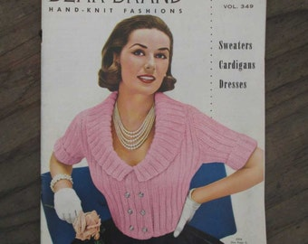 50s Vintage Knitting Book vintage Cardigan instructions Vintage Sweaterdress 50s Pullover and Skirt Cashmere Yarn Book