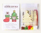 DIY SUNAE(Sand Art) Kit  -Christmas Tree Girl & Twinkle Rabbit-
