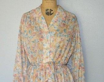 SALE- vintage 70s floral dress