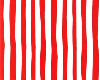 Dr Seuss fabric, Celebrate Seuss fabric, Suess Stripe in Red, Book fabric, Kids fabric, Cotton fabric by the yard, Quilt fabric