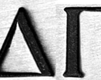Design Stamps - SORORiTY Delta Gamma (DG) - 6mm by ImpressArt -  includes How to Stamp Meta