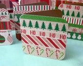 Christmas Enclosure Cards, Small Gift Cards, Little Christmas Cards, Square Cards, Set Of Small Christmas Tags, Mini Note Cards