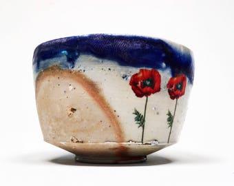 wood fired porcelain bowl