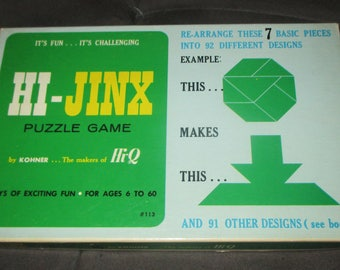 Vintage 60s Hi Jinx Puzzle Game with Box by Kohner