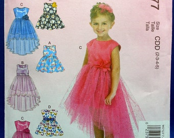 McCalls M7077, toddlers special occasion dress, girls dresses, sewing pattern, sizes 2 to 5