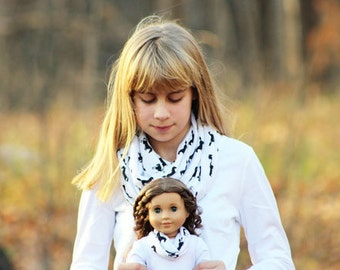 Matching Girl and Doll Accessories Fits American Girl Doll - Horse Play Knit Infinity Scarves, Many Sizes Available