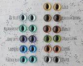 Metallic Hand Painted Cat Eyes - Your Choice of Size - 12mm 15mm 18mm - 8 pairs Craft Safety Eyes