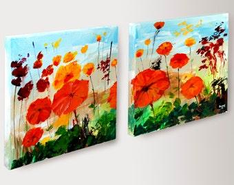 Twin Flower Paintings