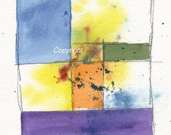 Original abstract watercolor painting 1