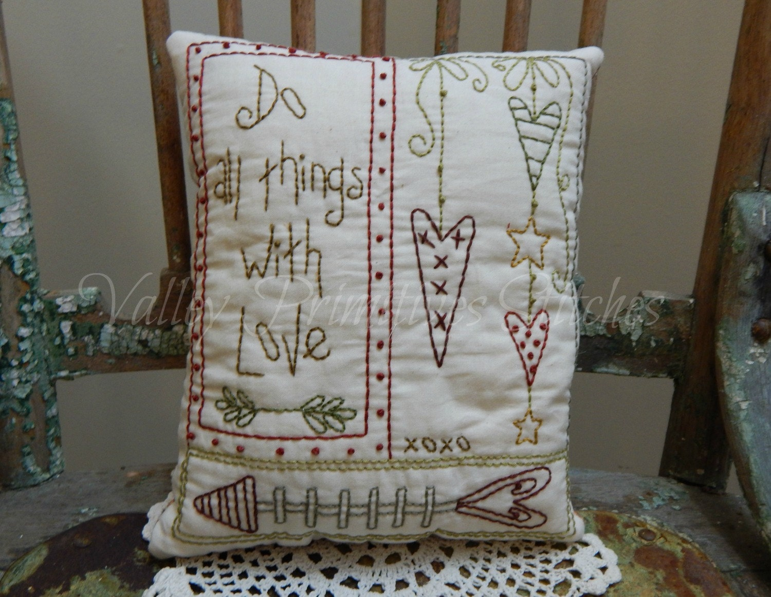 Decorative Valentine Pillows : Decorative Valentine s Pillow Hearts Sweetheart Love