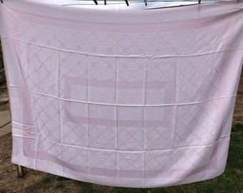 Vintage Pink Damask Lattice Work Tablecloth