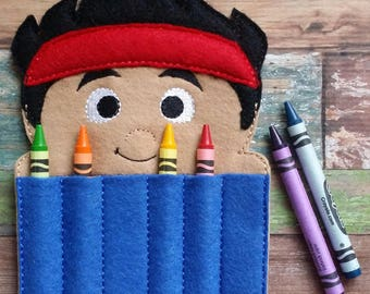 Pirate Felt Crayon Holder * Crayon Holder * Coloring * Party Favor