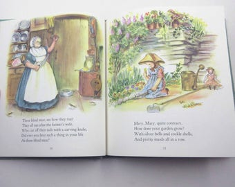 Mother Goose Vintage 1970s Children's Book with 77 Verses by Tasha Tudor