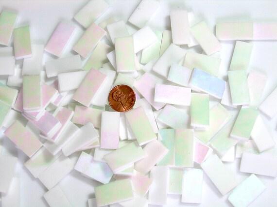 Snow white iridescent mosaic tile borders hand cut from for Perfekt mosaik bordure