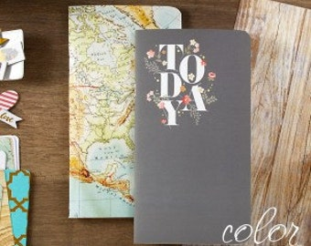 Webster's Pages NEW Color Crush Collection Travelers Planner Inserts Today & World Map