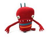 """Plush Stuffed Monster """"Kernal"""" Little Cotton Monster"""