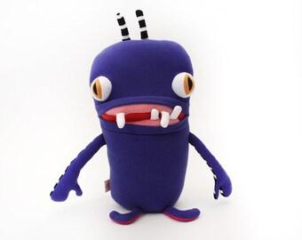 "Monster Plush Stuffed ""Bernie"" Toothy Pocket Cotton Monster"