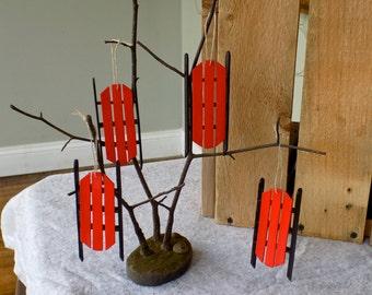 Handmade Sled Ornament
