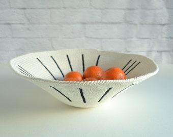 Modern home basket, Wall display basket, Tribal decor basket, Decorative bowl, Rope basket, Bread basket, Cotton anniversary, Cotton basket