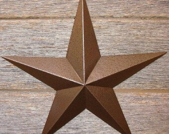 "Metallic Hammered Brown 72"" Barn Star"