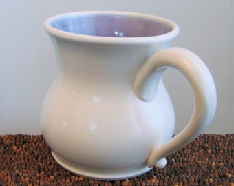 Pot Belly Coffee Mug 20 oz. Stoneware Ceramic Handmade Pottery Mug, Coffee Cup in Lavender