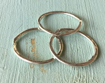 Link Sale FIVE Large Thin Sterling Silver