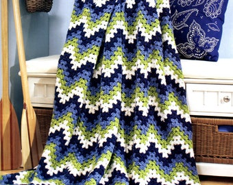 Custom Crocheted Calypso Afghan Gift Present Christmas Birthday Mothers Day Wedding Graduation Made to Order 6-8 weeks Delivery