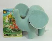 Sage Green Elephant Plush, Handmade Fleece Small Soft Toy, Simple and Sweet Little Plush Toy Elephant