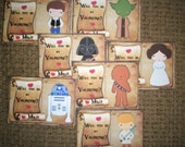 STAR WARS Valentine Cards - Personalized - Set of 27 - Will you be my Valentine?  SWVC 876