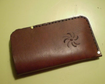 Bordeaux Leather Eyeglass Case