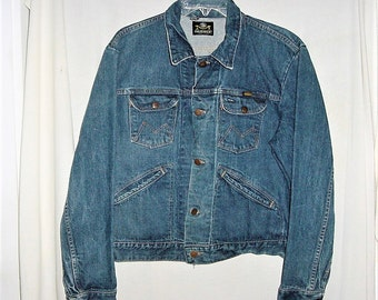 Vintage 60s Blue Bell Maverick Jean Jacket L Blue Denim