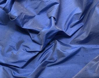 Cornflower Blue Silk DUPIONI Fabric - 1 Yard